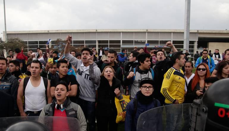 14 capturados tras disturbios en el sur de Bogotá