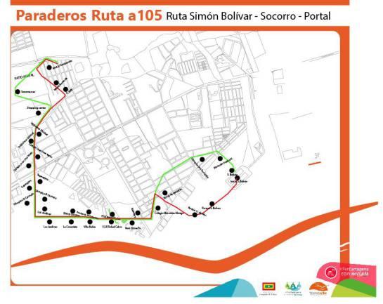 Inicia etapa pedagógica la ruta Simón Bolívar-Socorro-Portal de Transcaribe: Inicia etapa pedagógica la ruta Simón Bolívar-Socorro-Portal de Transcaribe