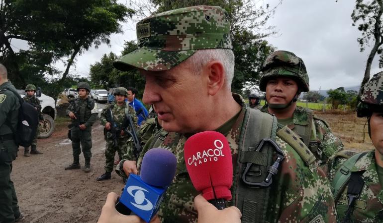 General Alberto José Mejía Ferrero comandante de las Fuerzas Militares en Colombia