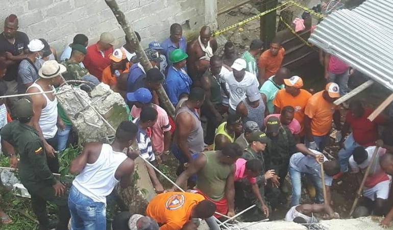 Mueren dos menores por colapso de vivienda en Barbacoas