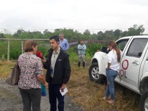 María Isabel Uribe y Raquel Jaramillo habitante del sector