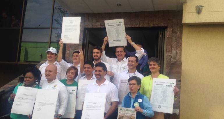Candidatos de la Alianza Verde publican sus declaraciones de renta