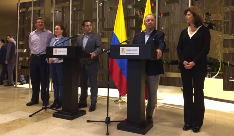 Ecuador y Colombia conformarán fuerza de tarea conjunta en la frontera