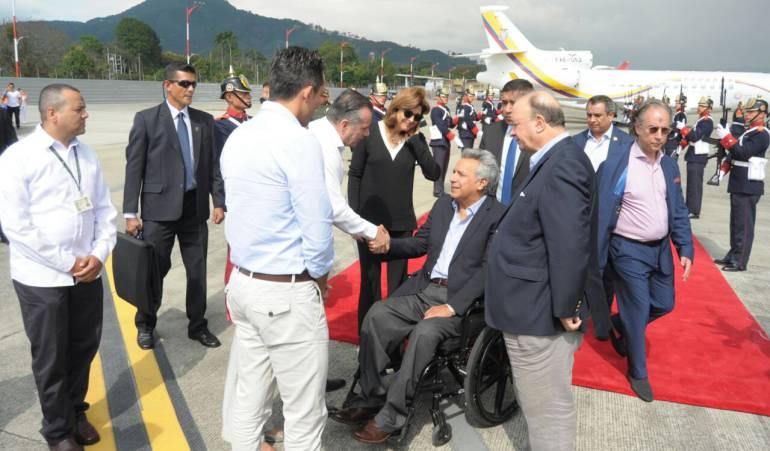 Ya está en Pereira el presidente de Ecuador