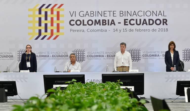 Presidente Santos ratificó compromiso de control a la frontera con Ecuador