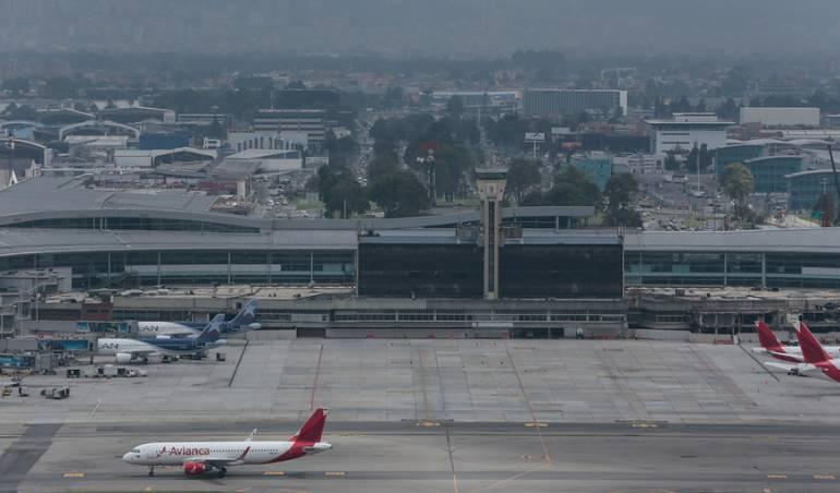 Aeropuerto El Dorado, en Bogotá.