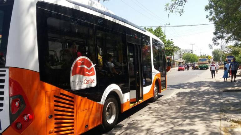 Inició operación comercial ruta A105 de Transcaribe Simón Bolívar - Portal