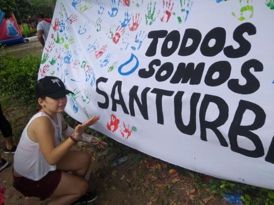 Jóvenes en el Malecón de Cúcuta pidiendo evitar la explotación en Santourban