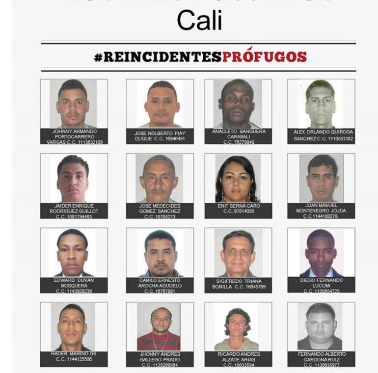 Los 20 mas buscados: Autoridades tras los 20 más buscados en Cali y el Valle