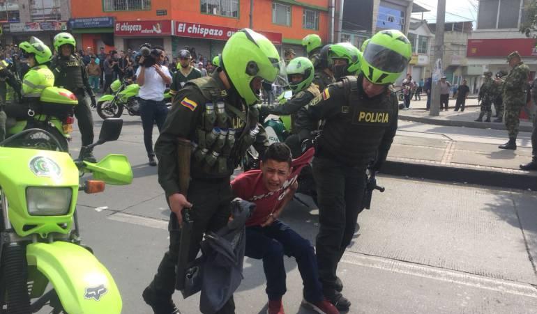 Disturbios Bogotá: Nuevos disturbios en el sur de Bogotá por saqueos a supermercados