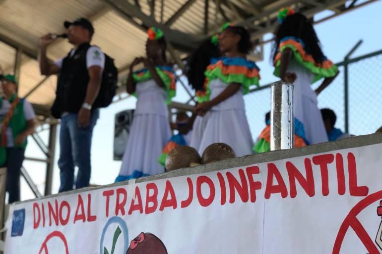 Niños de Cartagena, actores activos en jornada contra el trabajo infantil: Niños de Cartagena, actores activos en jornada contra el trabajo infantil