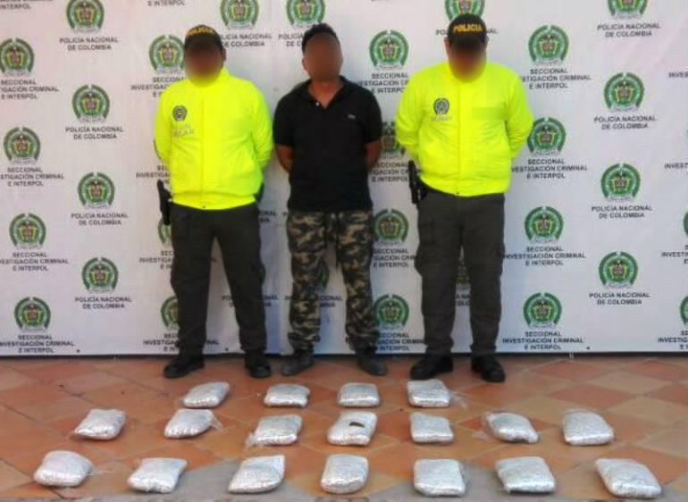 18 kilos de marihuana fueron incautados por la policía de Cartagena: 18 kilos de marihuana fueron incautados por la policía de Cartagena