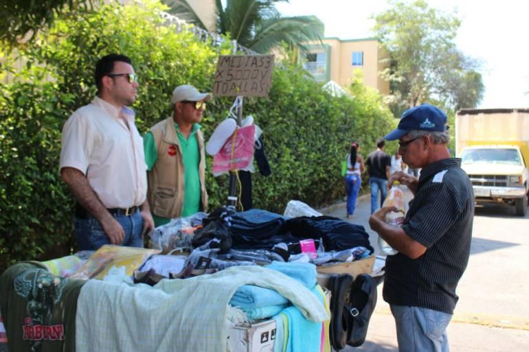 Recuperan espacio público en sectores comerciales de Cartagena: Recuperan espacio público en sectores comerciales de Cartagena