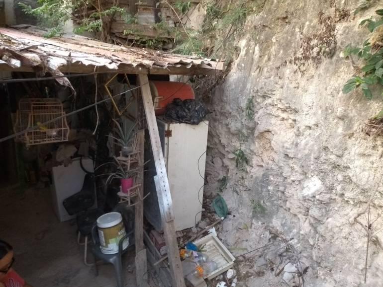 Ocho años completa abandonada la construcción de un muro en Cartagena: Ocho años completa abandonada la construcción de un muro en Cartagena