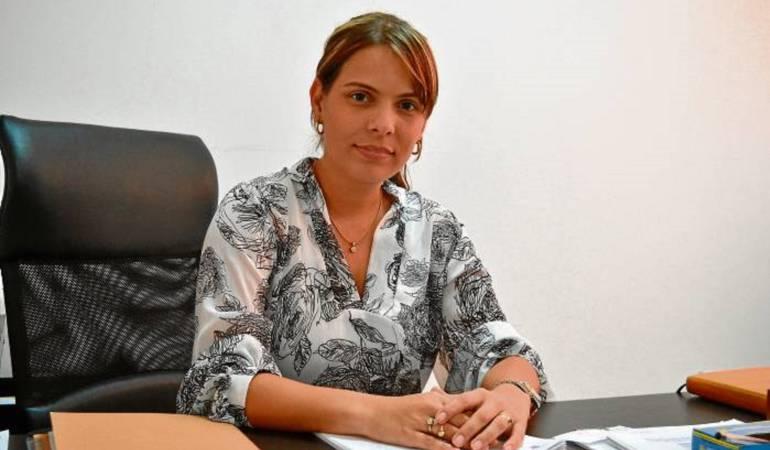 Sandra Gómez Urbina, funcionaria suspendida