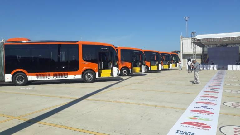 Alcalde de Cartagena destrabó llegada de 100 buses de Transcaribe: Alcalde de Cartagena destrabó llegada de 100 buses de Transcaribe