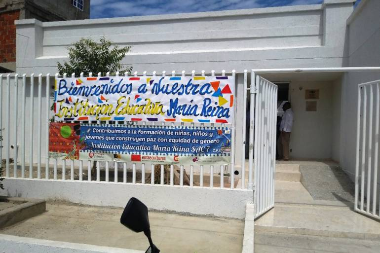 Mil millones de pesos invertidos en la I. E María Reina de Cartagena: Mil millones de pesos invertidos en la I. E María Reina de Cartagena