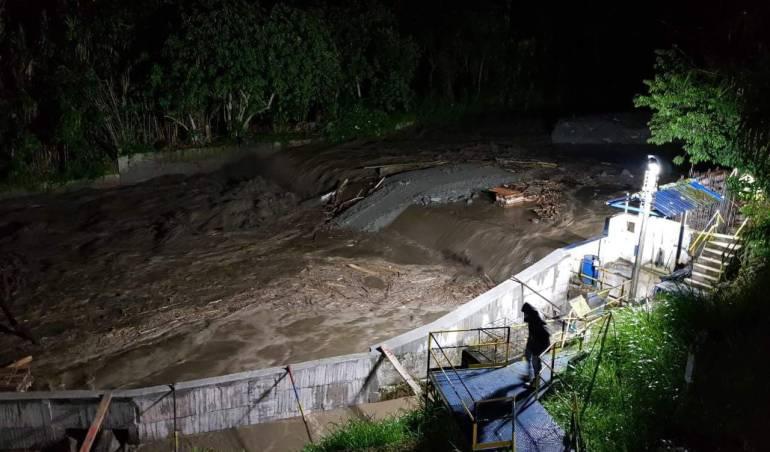 Emergencias en Ibagué, Tolima, por fuertes lluvias