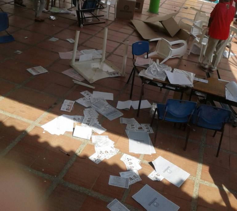 Suspenden votaciones en La Peña, Atlántico por asonada