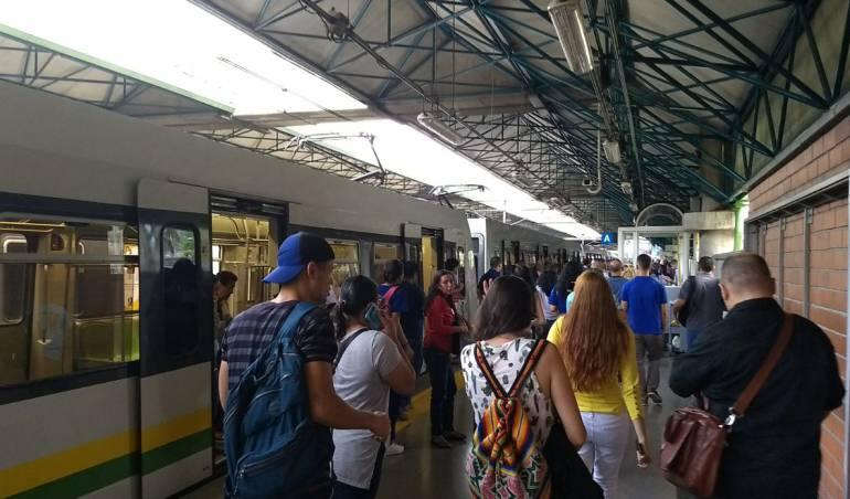 Problemas de transporte Medellín: Sin servicio tres estaciones del metro de Medellín