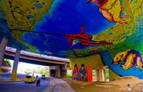 """BUCARAMANGA ARTE PARQUE INTERVENCIÓN: Parque de deportes extremos se """"vistió"""" de colores"""