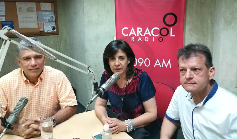 Edgar Díaz, Milla Patricia Romero y Jairo Cristo.