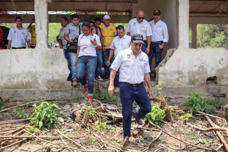El gobernador de Bolívar visita la comunidad las palmas en San Jacinto: El gobernador de Bolívar visita la comunidad las palmas en San Jacinto