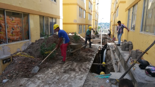 Trabajos de arreglo en las torres de Cormoranes de Cúcuta