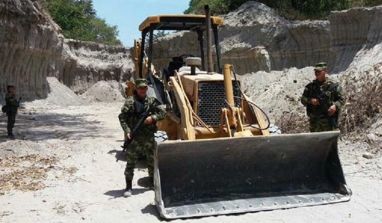 Minería ilegal Tolima: Operativos contra minería ilegal en Tolima