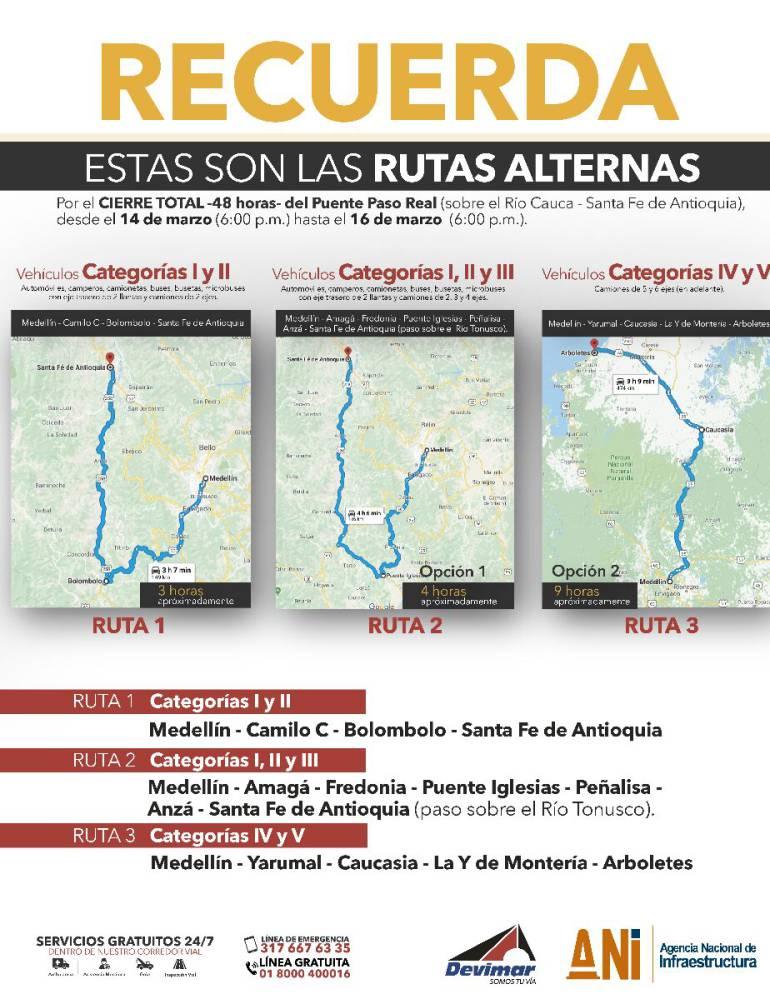 Por tres días estará cerrado el Puente de Santa Fe de Antioquia