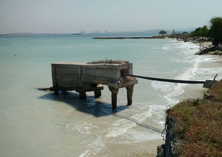 Erosión podría dejar a la isla de Tierrabomba sin energía: Erosión podría dejar a la isla de Tierrabomba sin energía