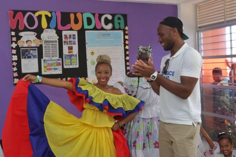 Drogba visitó la Casa Lúdica de Colombiatón en Cartagena: Drogba visitó la Casa Lúdica de Colombiatón en Cartagena