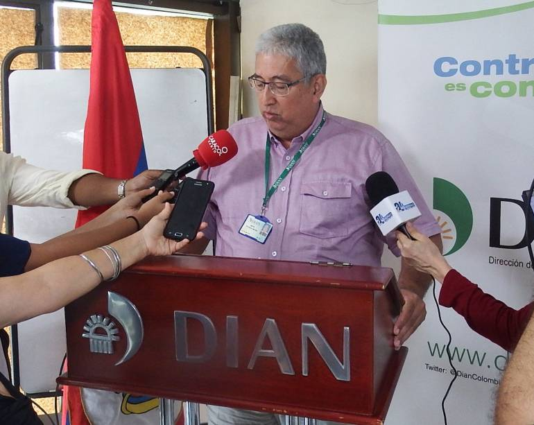 Martín Torrejano, director Dian Seccional Magdalena. /FOTO CARACOL RADIO