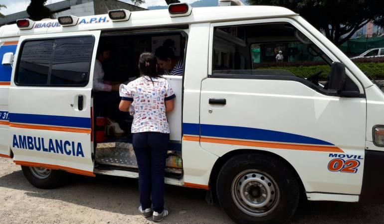 Ambulancia inspeccionada en Ibagué