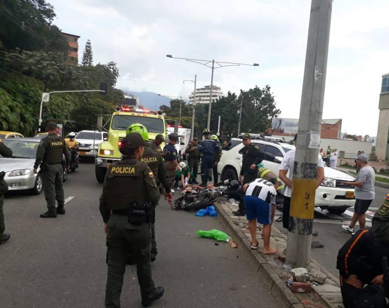 Camioneta atropella a dos fleteros en El Poblado
