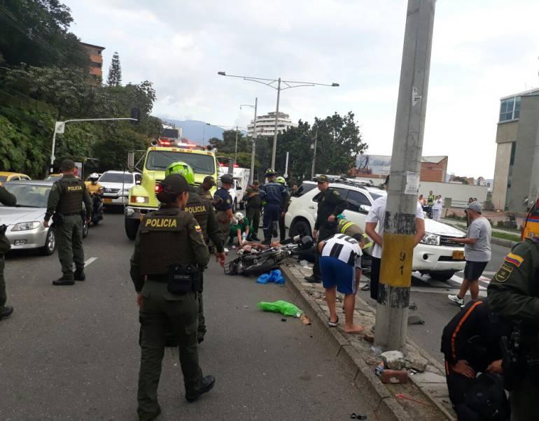 Fleteros atropellados en El Poblado tenían antecedentes por hurto