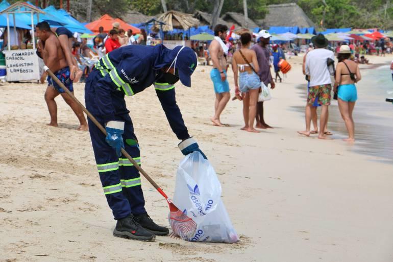 Intensifican recolección de basuras en Semana Santa en Cartagena: Intensifican recolección de basuras en Semana Santa en Cartagena