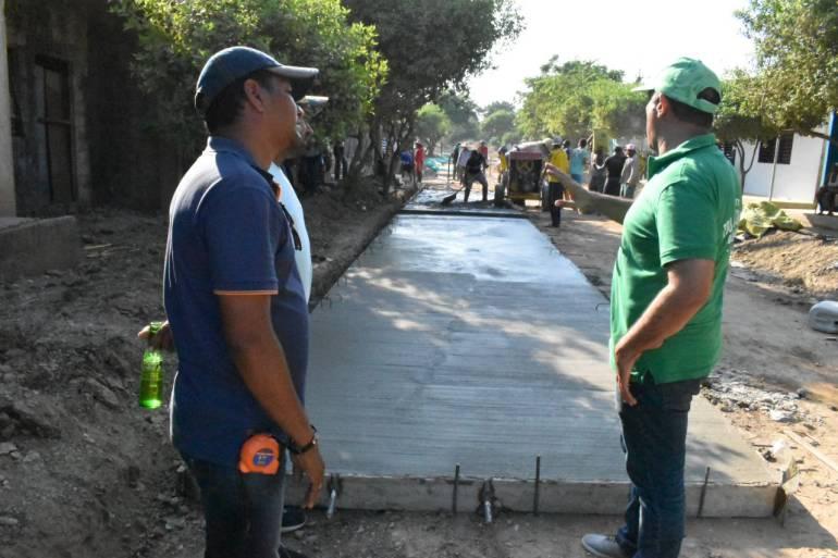 Pavimentan vías de corregimientos de Magangué, Bolívar: Pavimentan vías de corregimientos de Magangué, Bolívar