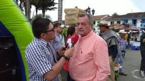 el alcalde de Filandia, Roberto Murillo