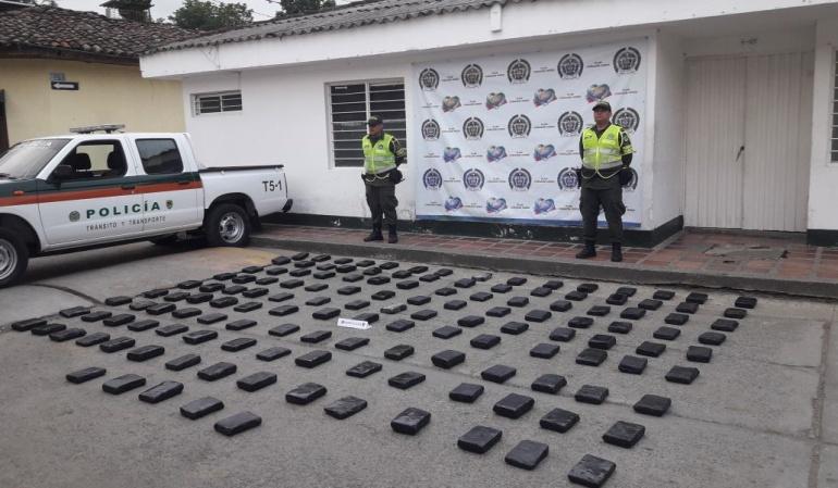 Cargamento incautado en Cajamarca, Tolima.