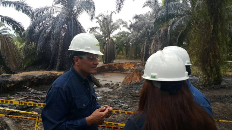 DERRAME, PETROLEO, CRUDO, AFLORAMIENTO: Ecopetrol reportó que se detuvo el derrame de crudo en el pozo 158