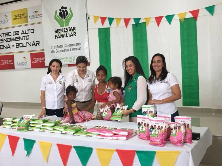 ICBF lleva Bienestarina a los habitantes de Arjona, Bolívar