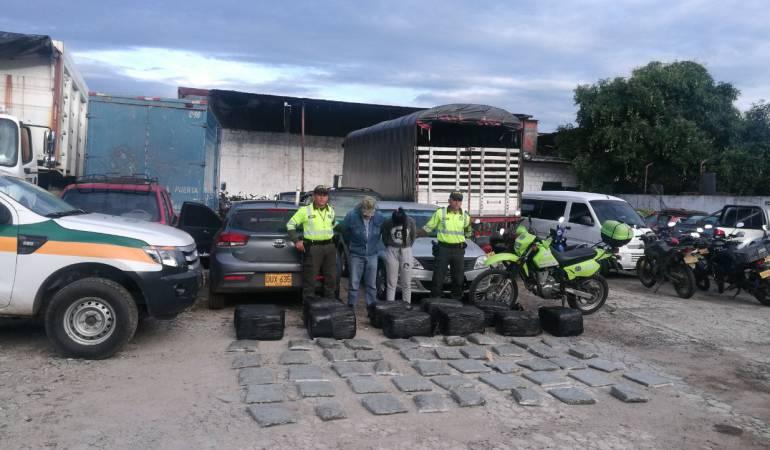 Incautación 149 kilos de marihuana en vías del Tolima