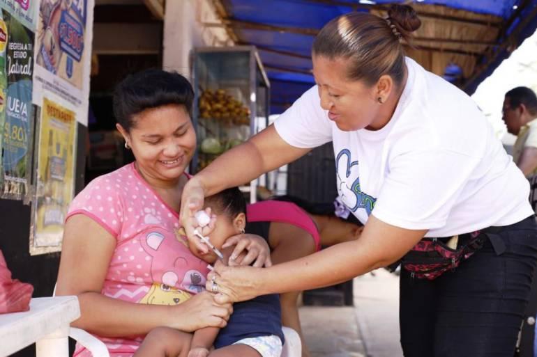 Cobertura en vacunación contra el sarampión en Bolívar es del 94,9%: Cobertura en vacunación contra el sarampión en Bolívar es del 94,9%