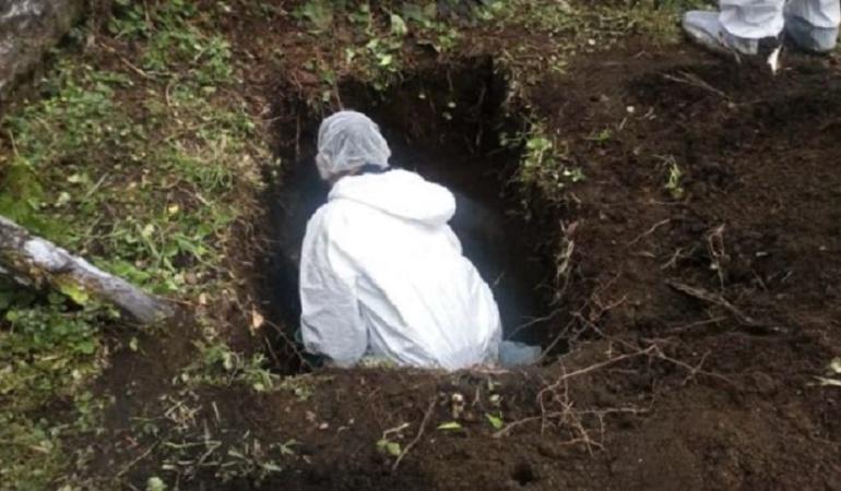 Exhumación de cadáveres en el sur del Tolima