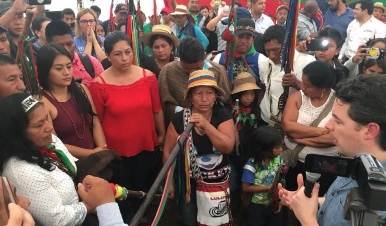 Gobierno pide perdón público por asesinato de indígena en Cauca