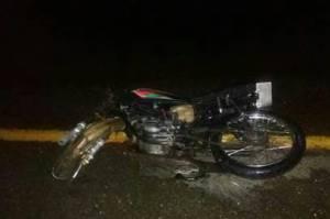 Así quedó una de las motocicletas involucradas en el accidente
