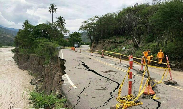 SANTANDER MÁLAGA VÍAS CARRETERAS: Troncal Central del Norte al borde del colapso por lluvias