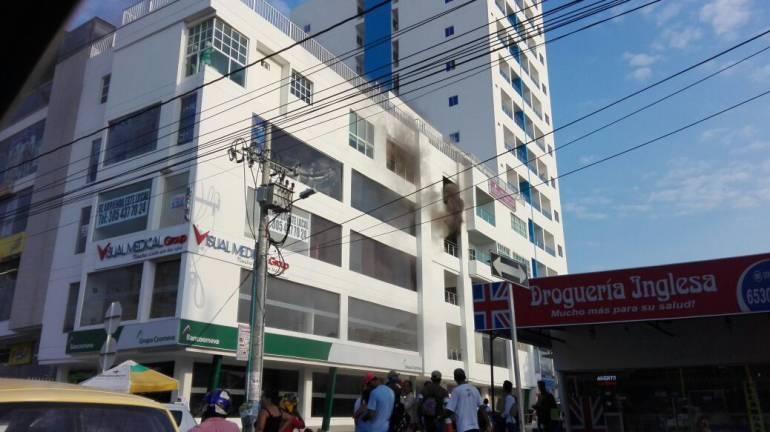 Incendio en Cartagena, zona La Castellana: Se presentó incendio en el sector de La Castellana