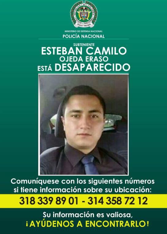 Desaparecidos: Buscan a oficial de policía desaparecido en Bogotá
